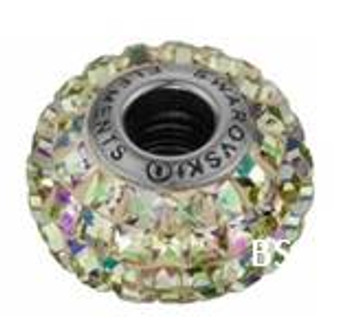 Swarovski BeCharmed Pave Bead 80201 Luminous Green