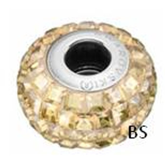 Swarovski BeCharmed Pave Bead 80201 Crystal Golden Shadow
