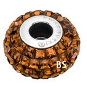Swarovski BeCharmed Pave Bead 80201 Smoked Topaz