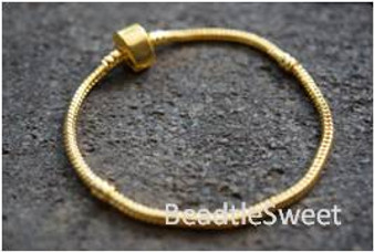 Bracelet for BeCharmed Beads (Gold Plating)