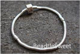 Bracelet for BeCharmed Beads (Platinum Plating)