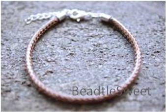 Polyester Cord Bracelet in Cocoa