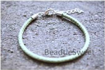 Polyester Cord Bracelet in Olivine