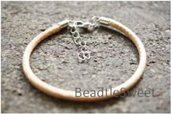 Polyester Cord Bracelet in Beige