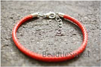 Polyester Cord Bracelet in Red