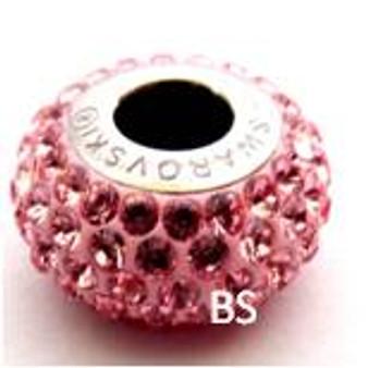 Swarovski BeCharmed Pave Bead 80101 Light Rose