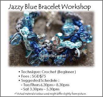 Jazzy Blue Bracelet Workshop