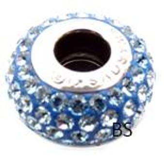 Swarovski BeCharmed Pave Bead 80101 Aquamarine