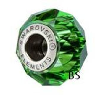Swarovski BeCharmed Bead 5948 Dark Moss Green