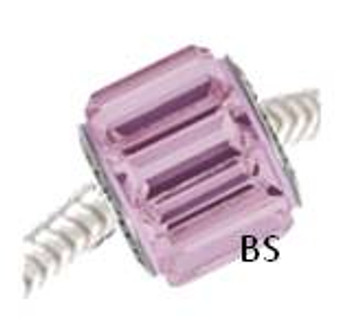 Swarovski BeCharmed Pave Bead 80301 Light Amethyst