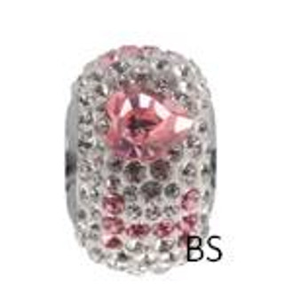 Swarovski BeCharmed I Love You Pave 84902 Light Rose