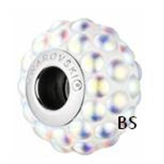 Swarovski BeCharmed Cabachon Bead 80501 Crystal AB Matt