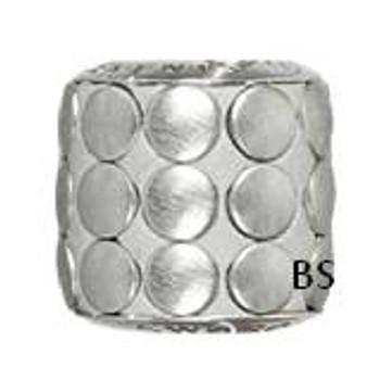Swarovski BeCharmed Pave Metallic Bead 80701 Silver Brushed