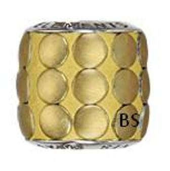 Swarovski BeCharmed Pave Metallic Bead 80701 Gold Brushed