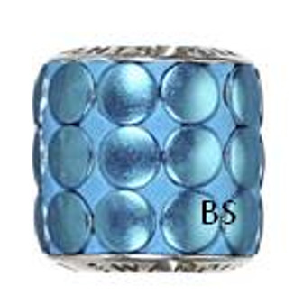 Swarovski BeCharmed Pave Metallic Bead 80701 Blue Brushed
