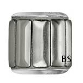 Swarovski BeCharmed Pave Metallic Bead 80801 Silver Polished