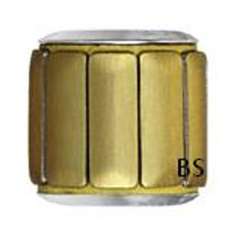 Swarovski BeCharmed Pave Metallic Bead 80801 Gold Brushed
