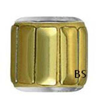 Swarovski BeCharmed Pave Metallic Bead 80801 Gold Polished