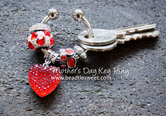 Swarovski BeCharmed Key Ring - Mother's Day Edition