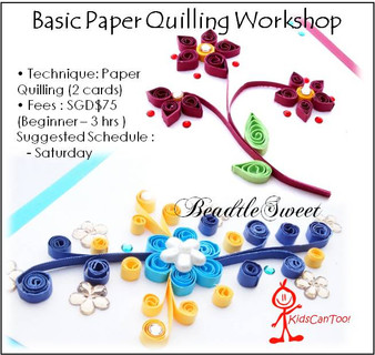 Paper Quilling Workshop : Paper Quilling Card (Basic)