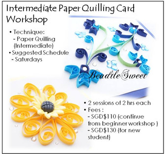 Intermediate Paper Quilling Card Workshop