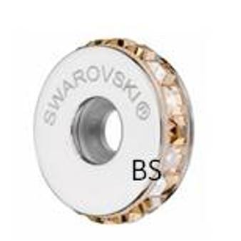 Swarovski BeCharmed Pave Stopper 81001 Crystal Golden Shadow
