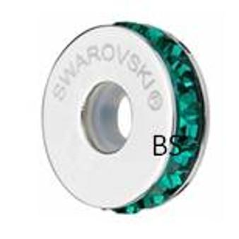 Swarovski BeCharmed Pave Stopper 81001 Emerald