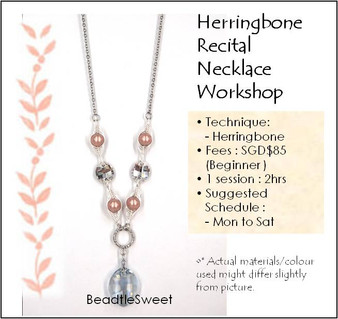 Jewelry Making Course : Herringbone Recital Necklace Workshop