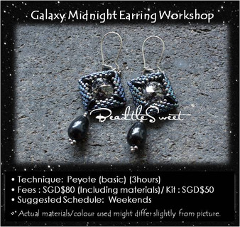 Jewelry Making Course : Galaxy Midnight Earring Workshop