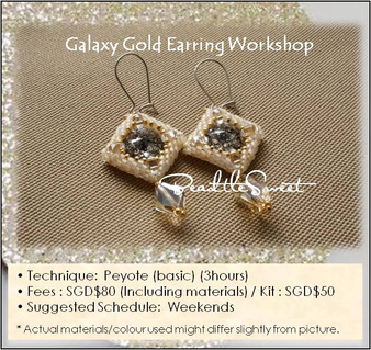 Jewelry Making Course : Galaxy Gold Earring Workshop
