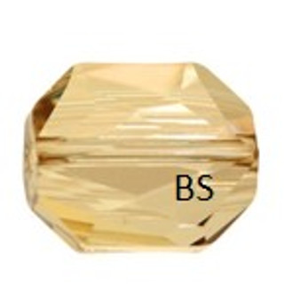 Swarovski 5520 Graphic Bead Crystal Golden Shadow 12mm