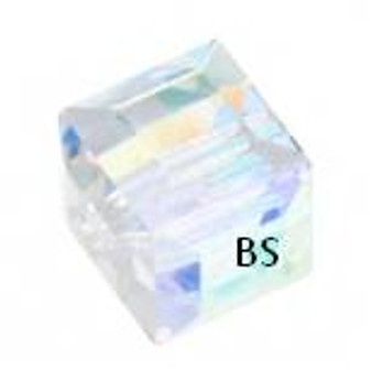 Swarovski 5601 Square Bead Crystal AB'B' 6mm