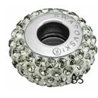 Swarovski BeCharmed Pave Bead 81101 Black Diamond