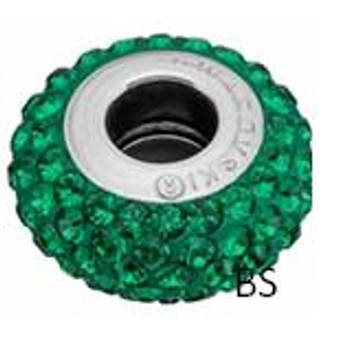 Swarovski BeCharmed Pave Bead 81101 Dark Moss Green