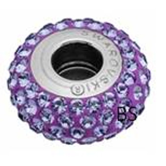 Swarovski BeCharmed Pave Bead 81101 Tanzanite
