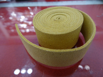 20mm Flat Suede Cord in Yellow
