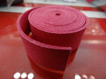 20mm Flat Suede Cord in Dark Pink