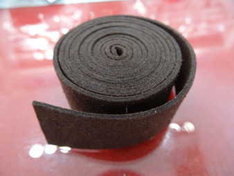 20mm Flat Suede Cord in Dark Brown