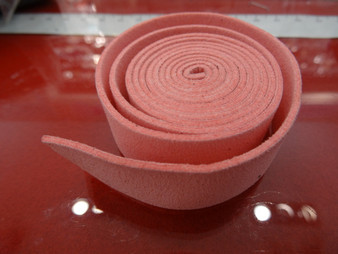 20mm Flat Suede Cord in Light Pink
