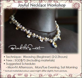 Jewelry Making : Joyful Necklace Workshop for Bridal Party