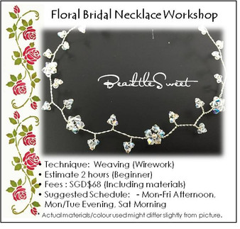 Jewelry Making : Floral Bridal Necklace Workshop for Bridal Party