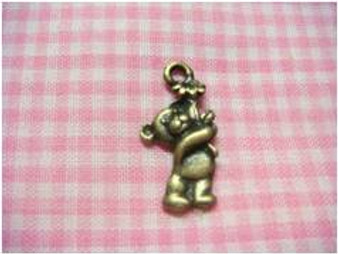 Antique Brass Bear Charm