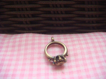 Antique Brass Ring Charm