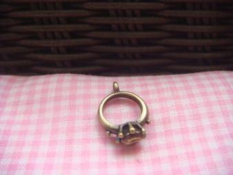 Antique Brass Ring Charm