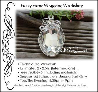 Jewelry Making: Fuzzy Stone Wrapping Workshop