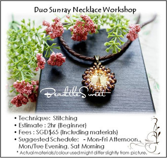Jewelry Making : Duo Sunray Necklace Workshop