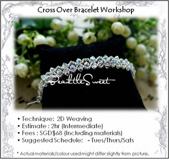 Jewelry Making : Cross Over Bracelet Workshop
