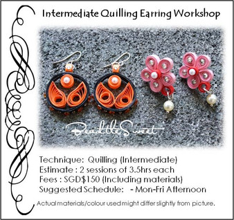 Paper Quilling Earring Workshop (Intermediate)