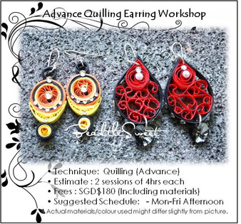 Paper Quilling Earring Workshop (Advance)