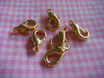 12mm Lobster Claw (Gold)